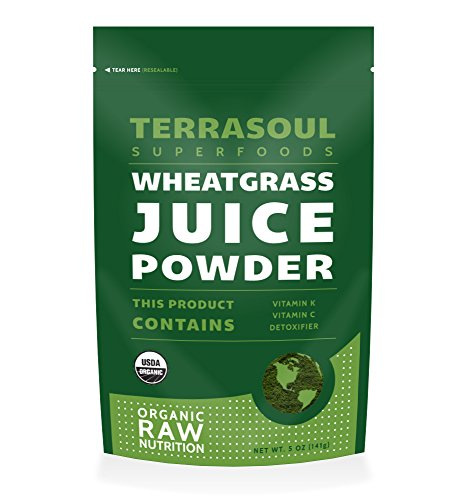 Terrasoul Superfoods Wheat Grass Juice Powder (Organic), 5 Ounce (Wheatgrass Organic Powder compare prices)