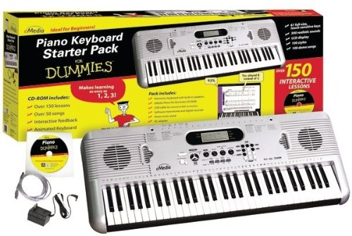 For Dummies - Piano For Dummies 61-Key Keyboard Starter Pack *** Product Description: For Dummies - Piano For Dummies 61-Key Keyboard Starter Pack 61 Full-Size Touch-Sensitive Keys Built-In Speakers 300 Realistic Sampled Sounds Usb Port (For Inte ***