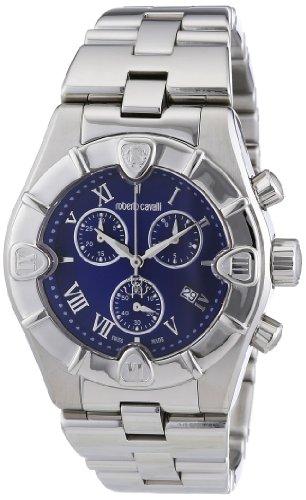 Roberto Cavalli 7253616035 - Reloj unisex de cuarzo, correa de acero inoxidable color plata