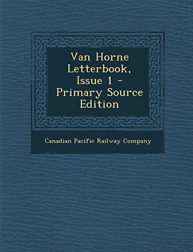 Van Horne Letterbook, Issue 1