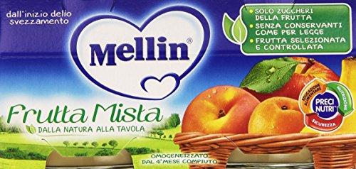 Mellin - Omogeneizzato, Frutta Mista - 200 grams