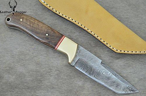 Leather-N-Dagger | Professional High Quality Custom Handmade Damascus Steel Tanto Hunting Knife (100% Satisfaction Guaranteed) Great Gift Ld190