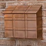 Grid Wall Mount Copper Mailbox - Antique Copper