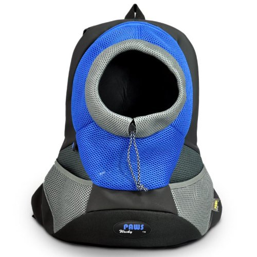 Wacky Paws Sporty Backbag Pet Carrier, Large, Blue