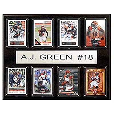 C and I Collectables NFL 15W x 12H in. A.J. Green Cincinnati Bengals 8 Card Plaque
