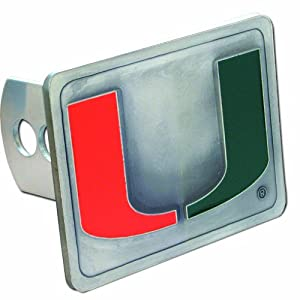 Buy Miami Hurricanes College Trailer Hitch Cover by Siskiyou Automotive
