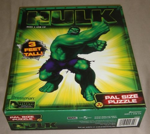 Picture of Pressman The Hulk: Pal Size Puzzle 3 Ft Tall (B0036BZX2K) (Floor Puzzles)