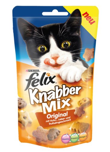 Felix Knabber Mix Original  60g Snacks (4er Pack) von Purina