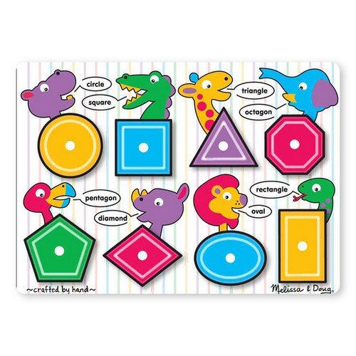 Picture of Fun Shapes Peg (B003WL4Q0E) (Pegged Puzzles)