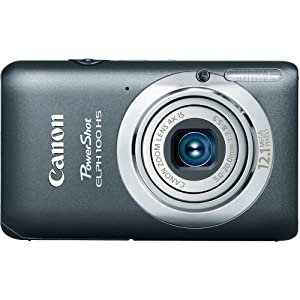 Canon PowerShot ELPH 100 HS 12.1 MP CMOS Digital Camera with 4X Optical Zoom (Grey)