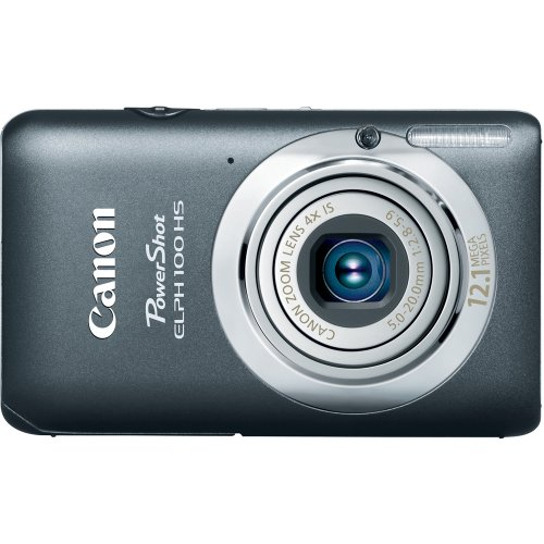 Christmas Canon PowerShot ELPH 100 HS 12.1 MP CMOS Digital Camera with 4X Optical Zoom (Grey) Deals