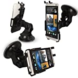 FoneM8® - New 2013 HTC One PREMIUM Dedicated Windscreen Mount Car Holder Kit with FULL 360 Degrees Rotation