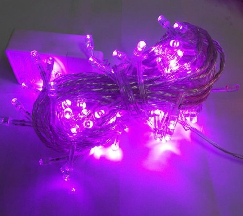 Generic 10M 32.8Ft 100 Led Ip 44 Waterproof Bright Fairy String Light For Outdoor Indoor Room Garden Home Christmas Party Decoration Wedding Holiday Patio Backyard Bedroom Living Room (Purple) front-518273