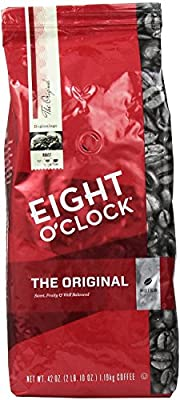 Eight O'Clock Coffee, Original Whole Bean, 42-Ounce Package