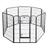 "Pet Trex 2345 40 Inch Black Playpen Heavy Duty Playpen For Indoor And Outdoor Use, 40"", Black"