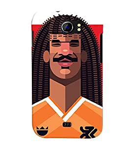 TOUCHNER (TN) Soccer Player 3 Back Case Cover for MICROMAX A110