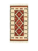Kilim Carpets by Jalal Alfombra Kilim Zagros (Rojo/Gris)