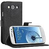 Bingsale Schutzhülle Ledertasche Samsung Galaxy S3 Hülle Tasche (Ledertasche schwarz)