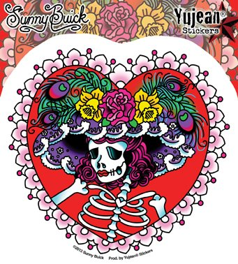 sunny-buick-flower-hat-lady-sugar-skull-475-x-45-weather-resistant-long-lasting-for-any-surface