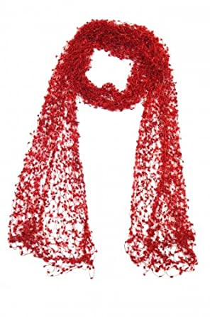 Ariel Scarf In Blue In Crochet One Size at Amazon Men's Clothing
