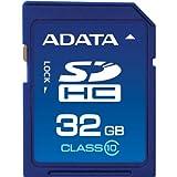 【Amazonの商品情報へ】ADATA SDHCメモリーカード 32GB Class10 BlueASDH32GCL10-R
