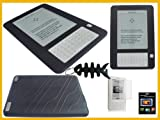 Value Combo- Black Silicone Case for Amazon Kindle 2 (2nd Generation) Ebook Reader +LCD Screen Protector+ Free Fishbone Style Keychain
