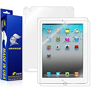 ArmorSuit MilitaryShield - Apple iPad 2 Screen Protector + Full Body Skin Protector / Front + Back Anti-Bubble Ultra HD - Extreme Clarity & Touch Responsive Shield with Lifetime Free Replacements