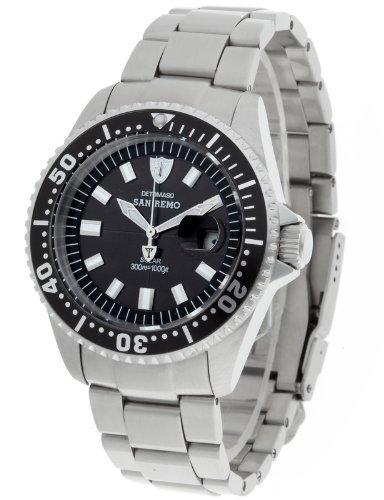 DeTomaso Men's Watch San Remo Solar Professional Schwarz DT1039-A