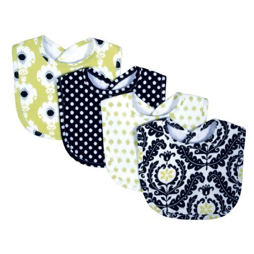 trend-lab-waverly-rise-and-shine-bib-set-black-white-4-count-by-trend-lab