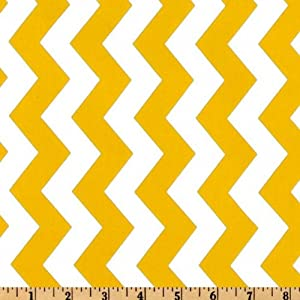 44'' Wide Michael Miller Summer Soiree Chevron Yellow/White Fabric By The Yard