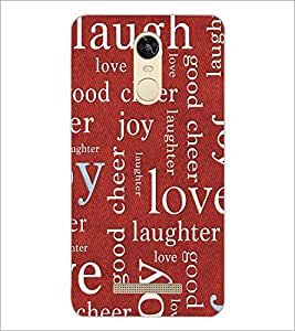 PrintDhaba Typography D-5467 Back Case Cover for XIAOMI REDMI NOTE 3 PRO (Multi-Coloured)
