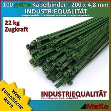 Teller Neu 20 Stück Kabelbinder schwarz 150 mm x 4,6 mm