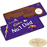 No 1 Dad Dairy Milk 850g Large Bar by Cadbury Gifts Direct