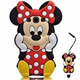 For Samsung Galaxy S3 i9300 SIII Disney Minnie Mouse 3D Cute Doll Soft Silicone Case Cover with Anti-dust Minnie Mouse Pen (Class 3)