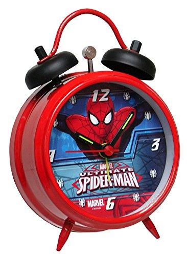 SPIDERMAN- Réveil métallique - 12cm - Rouge