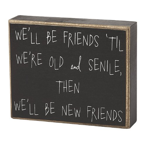 Collins Old and Senile Friends Decorative Box Sign