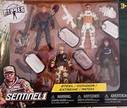 True Heroes Soldier Action Figures - Steel, Condor, Extreme & Patch by Toys R Us