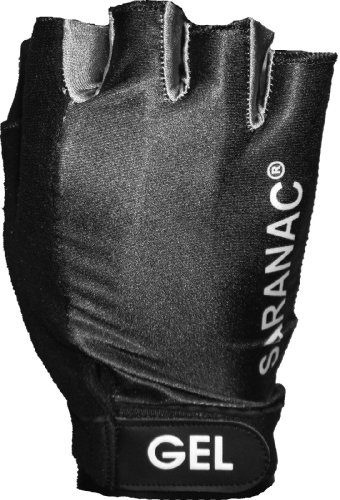 Saranac Cycling Gel Rider BI-18 Glove (Black, Large)
