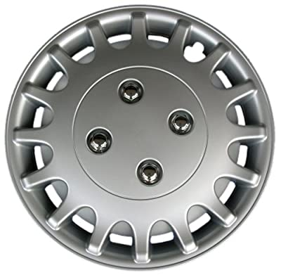 "Drive Accessories KT-1018-13S/L, Nissan Sunny, 13"" Silver Replica Wheel Cover, (Set of 4)"