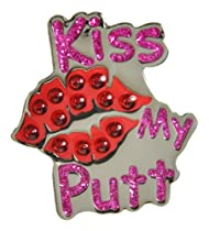 Navika Kiss My Putt Swarovski Crystal Ball Marker with Hat Clip