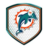 Miami Dolphins NFL Reflector Decal Auto Shield for Car Truck Mailbox Locker Sticker Football Licensed Team Logo at Amazon.com