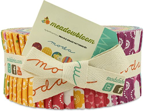 Meadowbloom By Prairie Grass Patterns Moda Jelly Roll, Set of 40 2.5x44-inch (6.4x112cm) Precut Cotton Fabric Strips