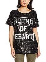 Silvian Heach Camiseta Manga Corta (Negro)