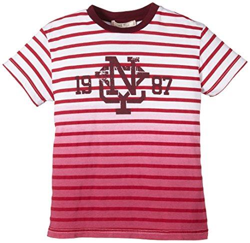 LTB Jeans Jungen T-Shirt KIMADAB T/S, Gestreift, Gr. 176 (Herstellergröße: 15-16 Jahre), Mehrfarbig (RED STRIPES 9641)