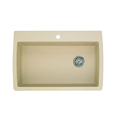 Blanco 441214 Diamond Super Single Bowl Silgranit II Sink, Biscotti