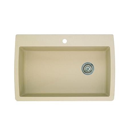 Blanco 441214 Diamond Super Single Bowl Silgranit II Sink, Biscotti
