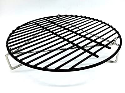 Grill Grate and Pizza Stone Elevator for MEDIUM Big Green Egg or any 15in Grill Grate