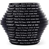 8x Step Up + 8x Step Down Ring Filter UV CPL Set 49 52 55 58 62 72 77 82mm Stepping Adapter 49-82mm 82-49mm for Nikon Canon DC147