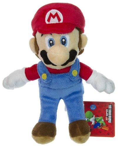 """Mario ~8"""" Plush - New Super Mario Bros Wii Plush Series"""