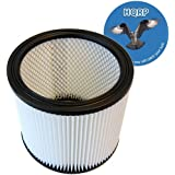 HQRP HEPA Cartridge Filter fits Shop-vac 903-04-00 for Wet / Dry Pickup + HQRP Coaster